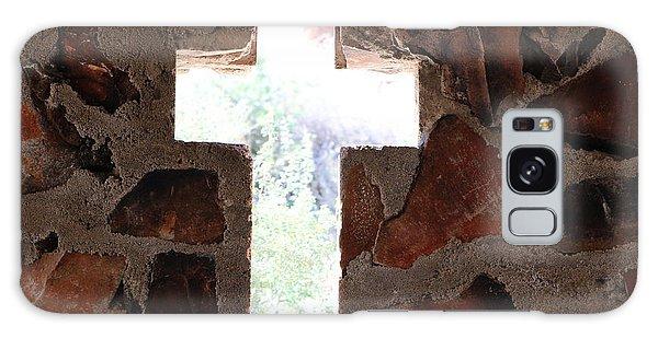Cross Shaped Window In Chapel  Galaxy Case