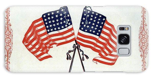 Us Civil War Galaxy Case - Crossed Civil War Union Flags 1861 by Daniel Hagerman