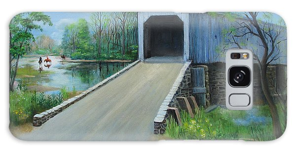 Crossing At The Covered Bridge Galaxy Case by Oz Freedgood