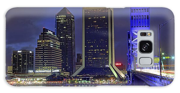 Crossing The Main Street Bridge - Jacksonville - Florida - Cityscape Galaxy Case