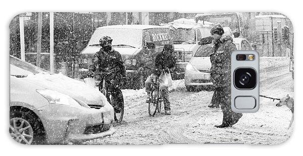 Crosswalk In Snow Galaxy Case by Dave Beckerman