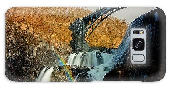 Croton Dam Rainbow Spray Galaxy Case
