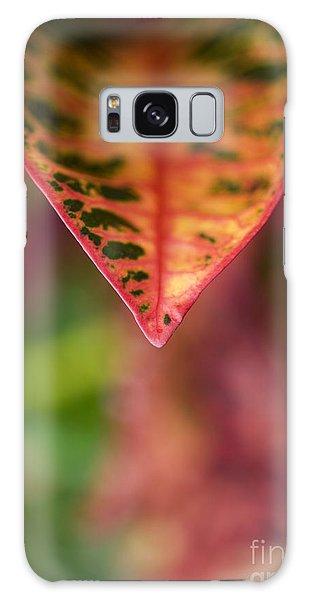 Croton Leaf Macro II Galaxy Case