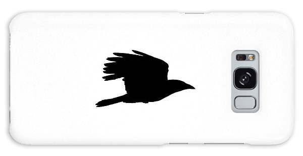 Galaxy Case featuring the photograph Crow In Flight Silhouette by Ken Stampfer