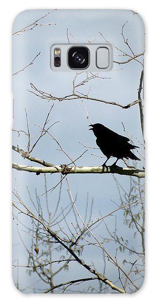 Crow In Sycamore Galaxy Case