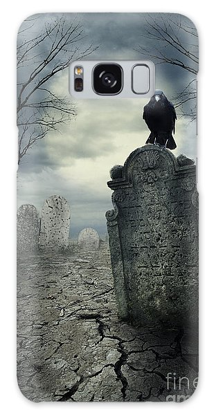 Crow On The Tombstone Galaxy Case