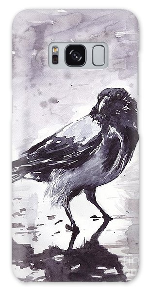 Pigeon Galaxy S8 Case - Crow Watercolor by Suzann's Art