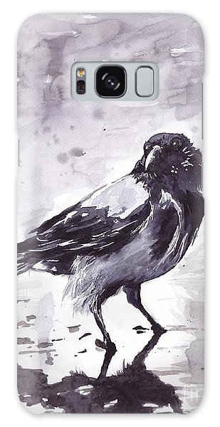 The Eagles Galaxy Case - Crow Watercolor by Suzann Sines
