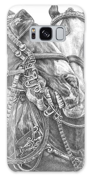 Crowd Pleasers - Clydesdale Draft Horse Art Print Galaxy Case