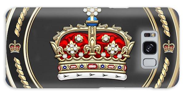 Crown Of Scotland Over Blue Velvet Galaxy Case