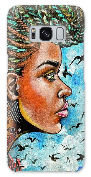 Galaxy Case - Crowned Royal by Artist RiA
