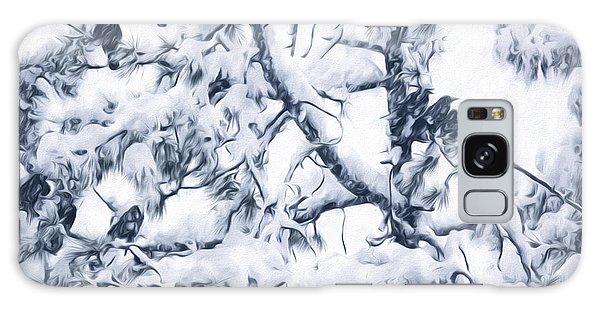 Crows In Snow Galaxy Case