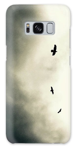 Crows On Christmas Eve 1 Galaxy Case