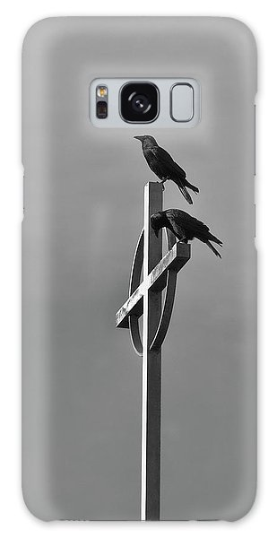 Crows On Steeple Galaxy Case by Richard Rizzo