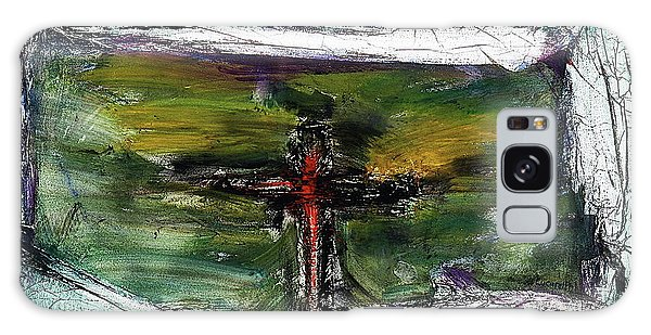 Galaxy Case featuring the painting Crucifixion #3 by Michael Lucarelli