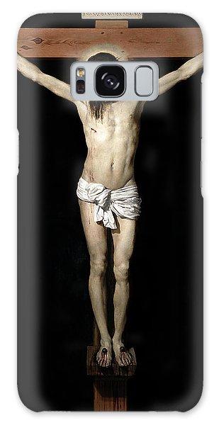 Galaxy Case featuring the digital art Crucifixion by Diego Velazquez