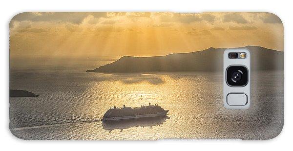 Cruise Ship In Greece Galaxy Case