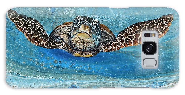 Galaxy Case featuring the painting Crush The Honu by Darice Machel McGuire
