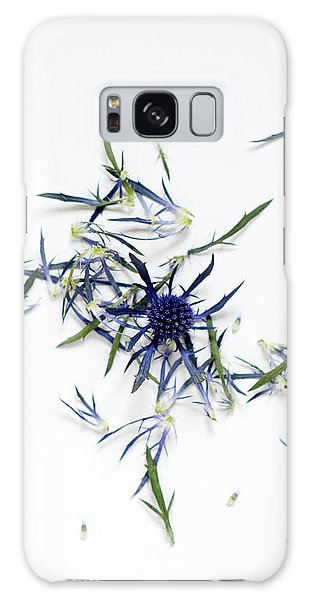 Crushed Blue Thistle Petals Galaxy Case
