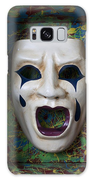 Hiding Galaxy Case - Crying Mask In Box by Garry Gay
