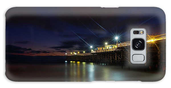 Crystal Beach Pier Blue Hour  Galaxy Case