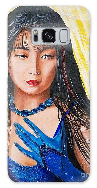 Crystal Blue China Girl Galaxy Case by Sigrid Tune