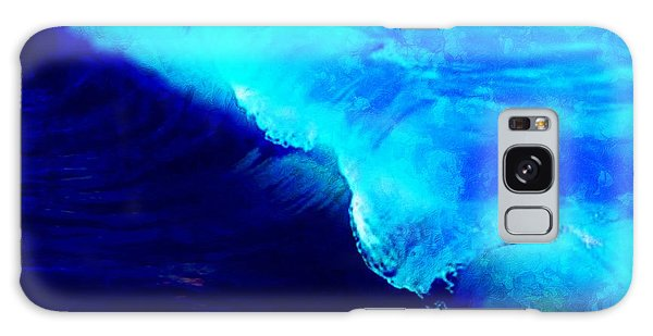Crystal Blue Wave Painting Galaxy Case