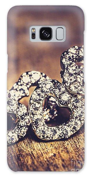 Earring Galaxy Case - Crystal Heart Earrings by Jorgo Photography - Wall Art Gallery