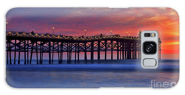 Crystal Pier In Pacific Beach Decorated With Christmas Lights Galaxy Case