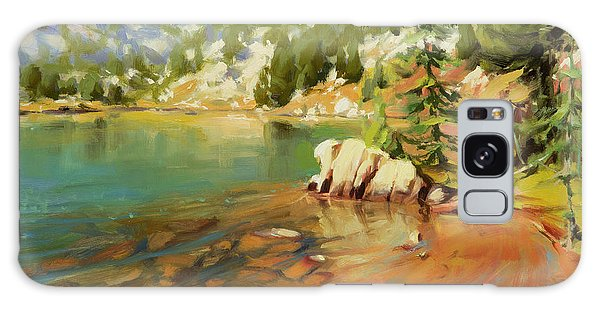 Mountain Lake Galaxy Case - Crystalline Waters by Steve Henderson