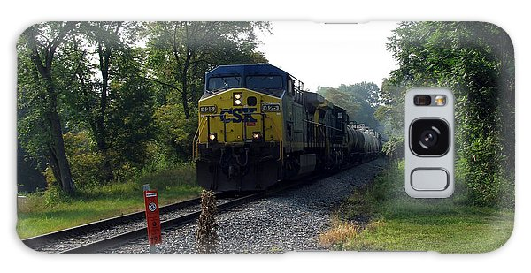 Csx 425 Coming Down The Tracks Galaxy Case by George Jones