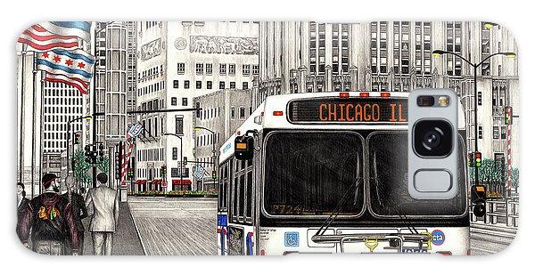 Cta Bus On Michigan Avenue Galaxy Case