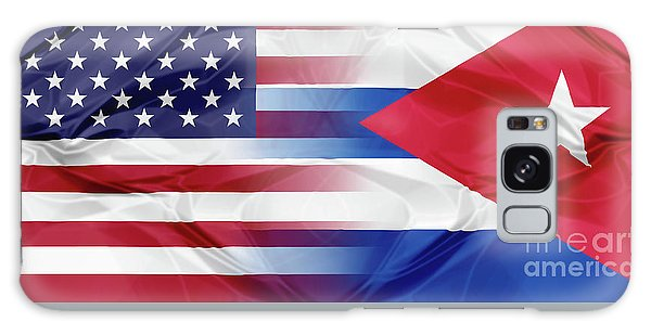 Cuba And Usa Flags Galaxy Case