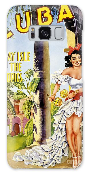 Cuba Holiday Isle Of The Tropics Vintage Poster Galaxy Case