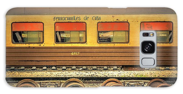 Galaxy Case featuring the photograph Cuban Train by Lou Novick
