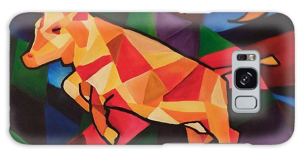 Cubism Cow Galaxy Case