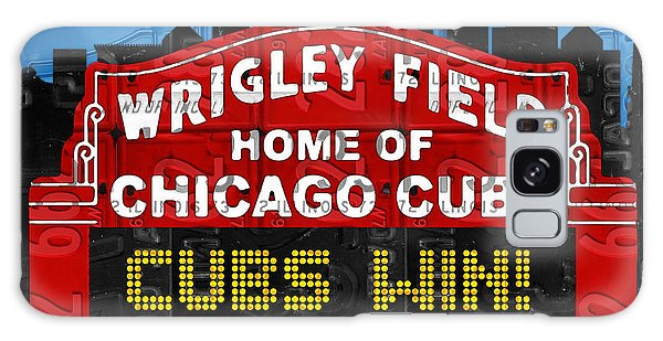 Recycle Galaxy Case - Cubs Win Wrigley Field Chicago Illinois Recycled Vintage License Plate Baseball Team Art by Design Turnpike