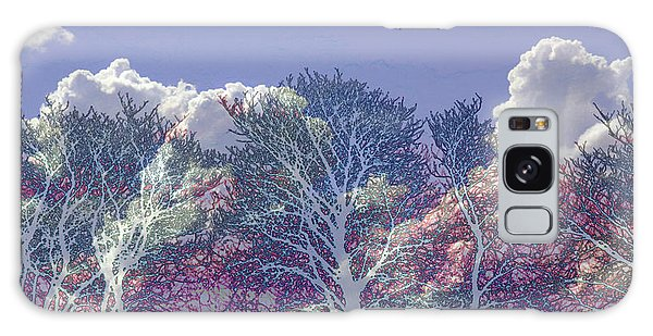 Galaxy Case featuring the photograph Cumulus And Trees by Nareeta Martin