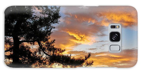 Galaxy Case featuring the photograph Cumulus Clouds Plum Island by Michael Hubley
