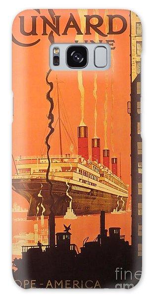 Cunard Ocean Liner Poster Galaxy Case