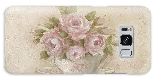 Cup And Saucer  Pink Roses Galaxy Case