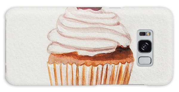 Cupcake With A Cherry On Top Please Galaxy Case by Elizabeth Robinette Tyndall