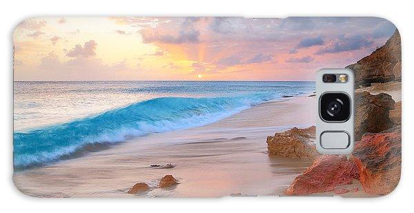 Cupecoy Beach Sunset Saint Maarten Galaxy Case
