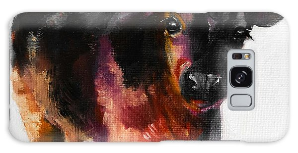 Buster The Calf Painting Galaxy Case by Michele Carter