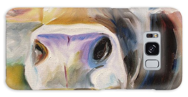 Curious Cow Galaxy Case by Donna Tuten