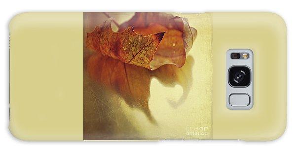 Curled Autumn Leaf Galaxy Case by Lyn Randle
