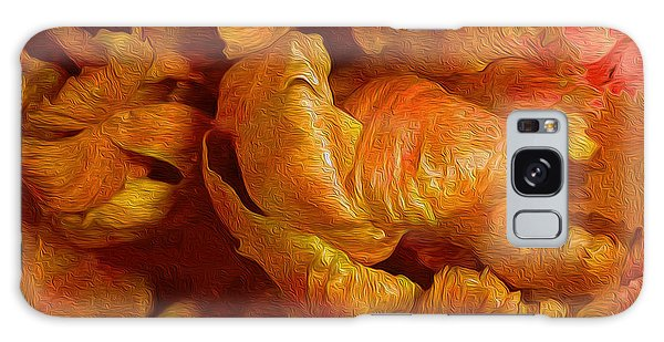 Curling Tulip Abstract 21  Galaxy Case