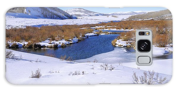 White Mountain National Forest Galaxy Case - Currant Creek On Ice by Chad Dutson