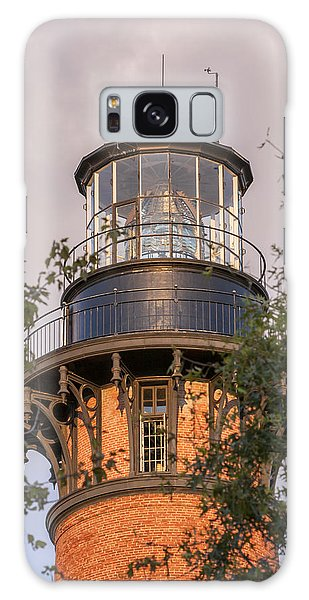 Currituck Beach Lighthouse Close-up Galaxy Case
