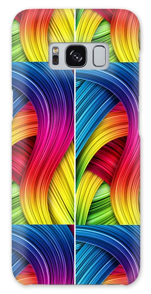 Curved Abstract Galaxy Case by Sheila Mcdonald